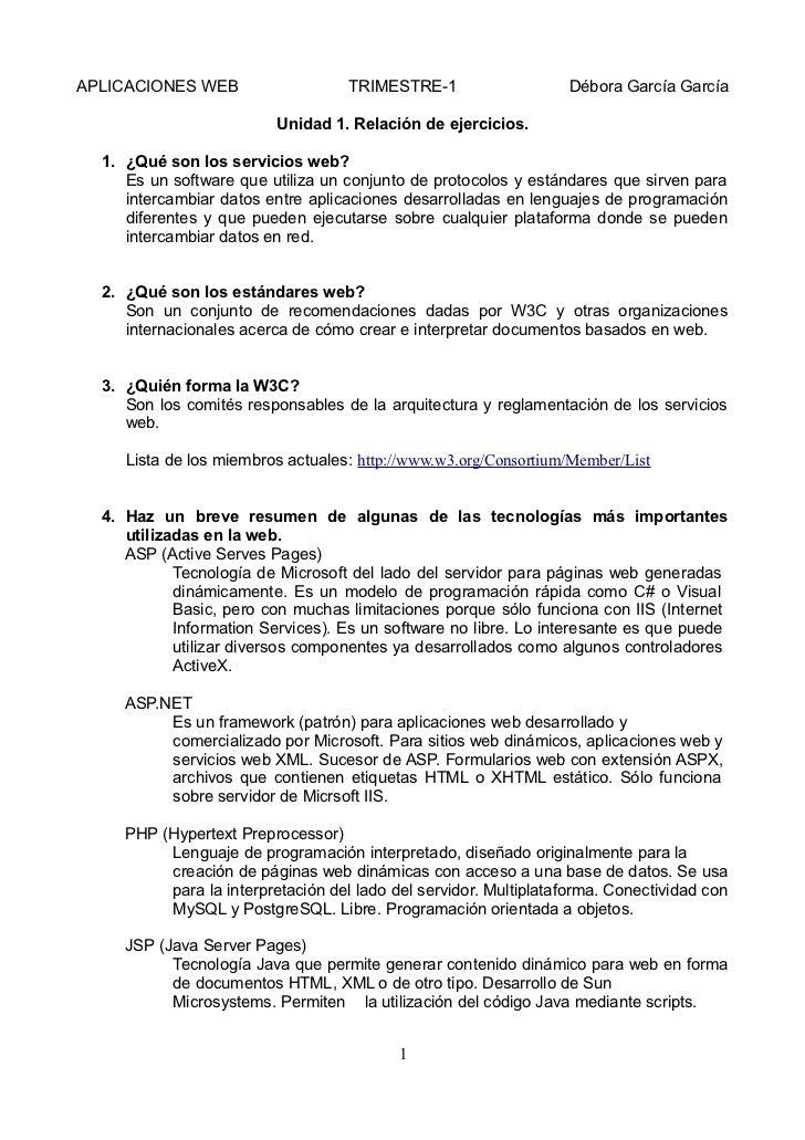 APLICACIONES WEB                    TRIMESTRE-1                   Débora García García                          Unidad 1. ...