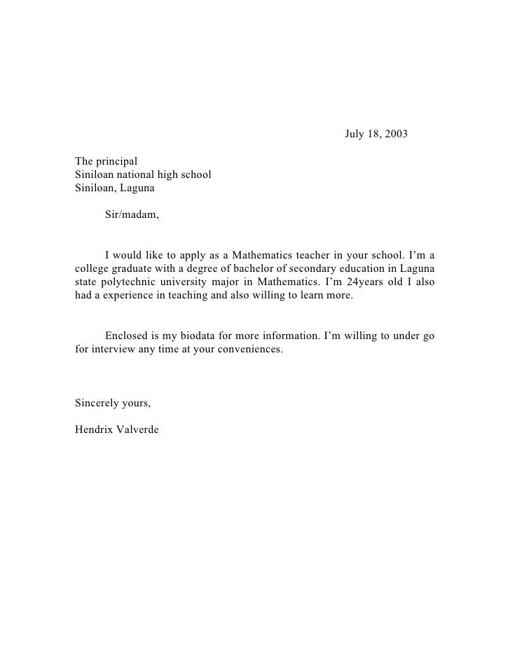 letter to principal regarding college fest Application letter to school principal for admission the principal, london grammar school, respected madam, this letter is to request an admission in your institute i have completed my secondary education from national secondary school i have attained six a and two b.