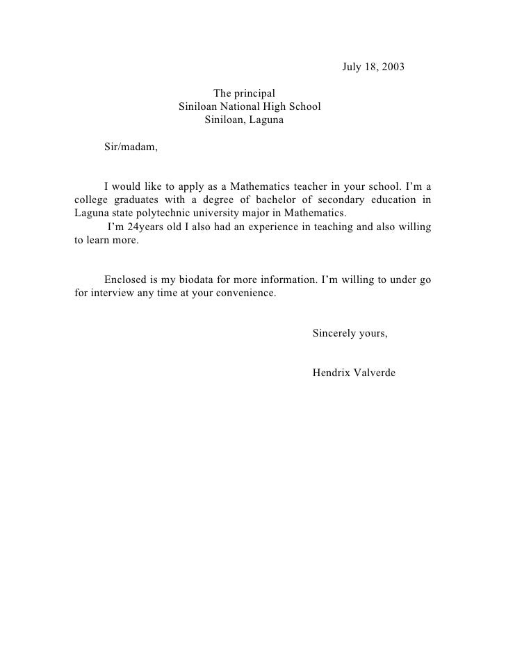 Application Letter To College Principal, An Essay Paper - The Ak