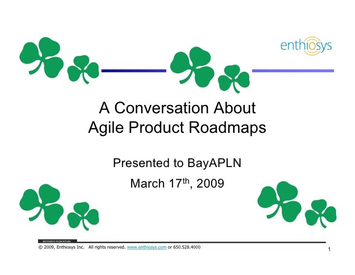 APLN Product Roadmap Talk