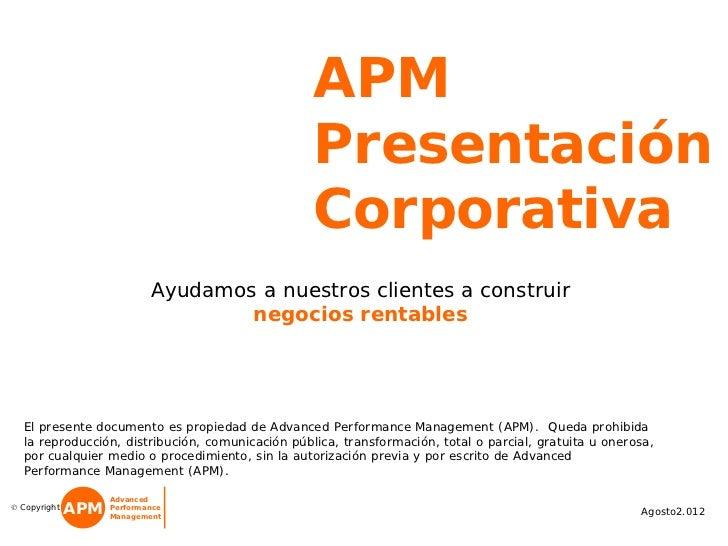 APM Presentación Corporativa 2012