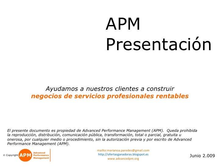 APM                                               Presentación                                               Corporativa  ...