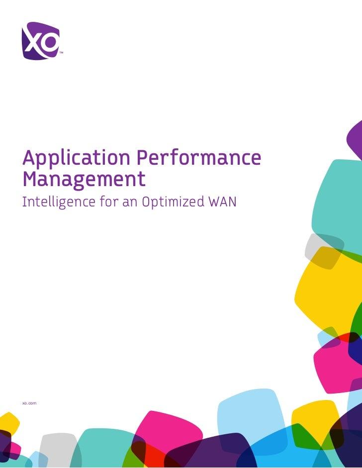 Application PerformanceManagementIntelligence for an Optimized WANxo.com