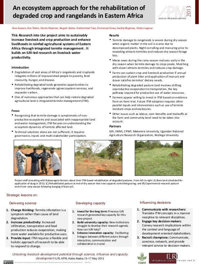 Unlocking livestock development potential through science, influence and capacitydevelopment ILRI, APM, Addis Ababa,15–17 ...