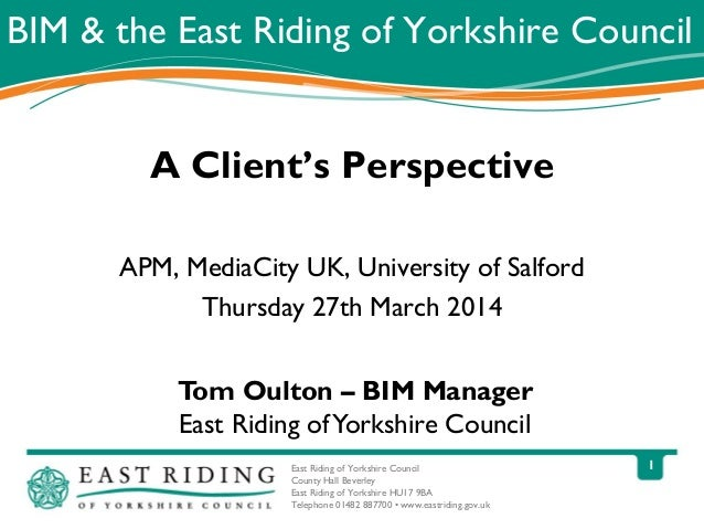 BIM and the East Riding of Yorkshire Council - Tom Oulton