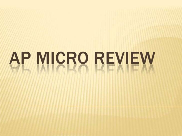 AP MICRO REVIEW<br />
