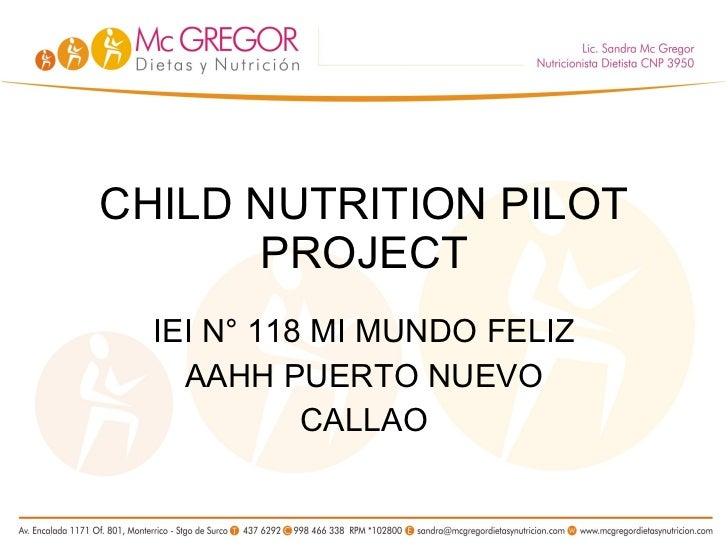 Child Nutrition Pilot Project