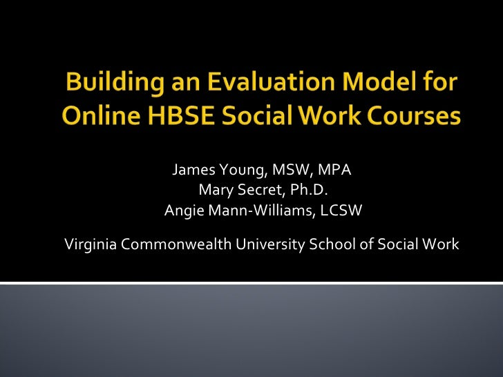 James Young, MSW, MPA Mary Secret, Ph.D. Angie Mann-Williams, LCSW Virginia Commonwealth University School of Social Work