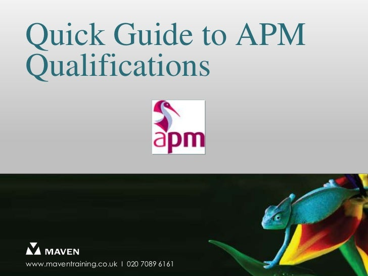 Quick Guide to APM Qualifications<br />