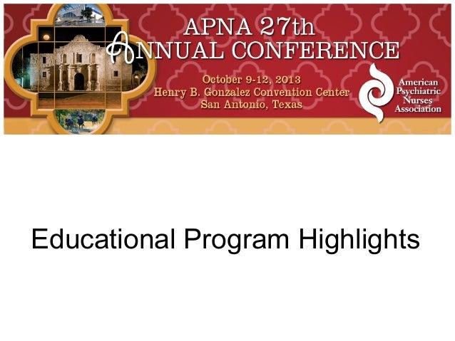 Educational Program Highlights
