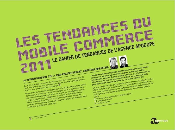 Tendances m-commerce 2011