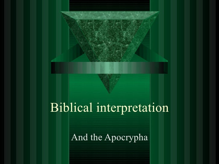 Apocrypha And Biblical Interpretation