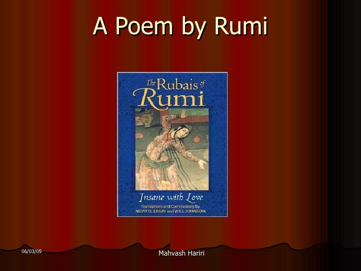 A  Poem By  Rumi
