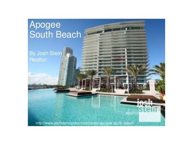 Apogee South Beach By Josh Stein Realtor  http://www.joshsteinrealtor.com/condo/apogee-south-beach