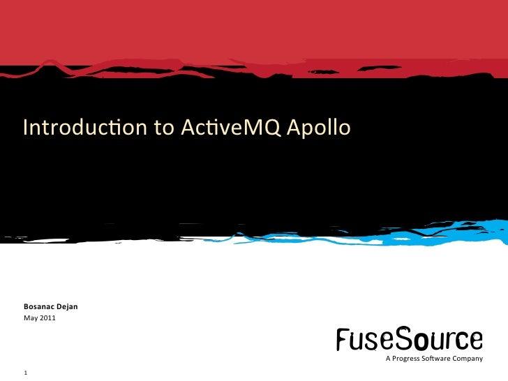 Introduction to ActiveMQ Apollo