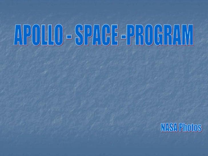 APOLLO - SPACE -PROGRAM NASA Photos