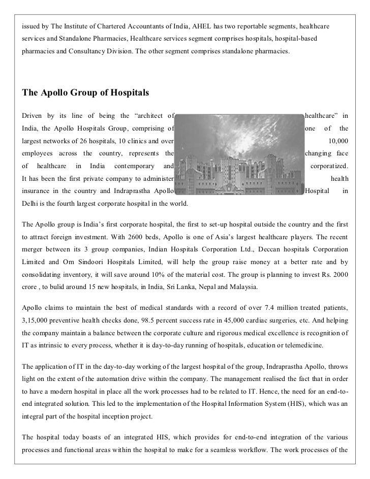 Apollo Hospital Ent.'s Key Fundamentals