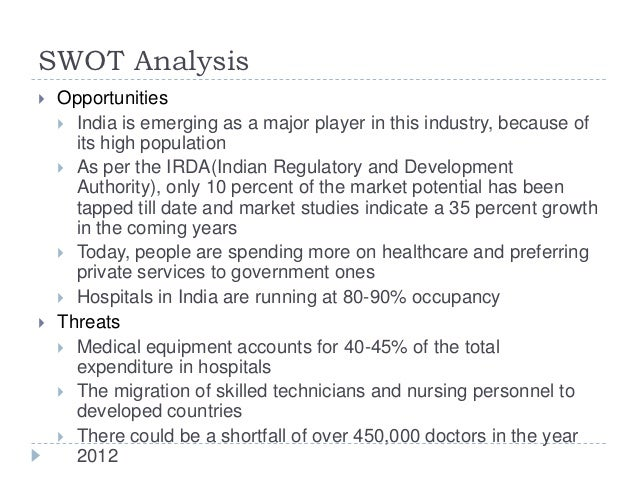 swot analysis of hospital