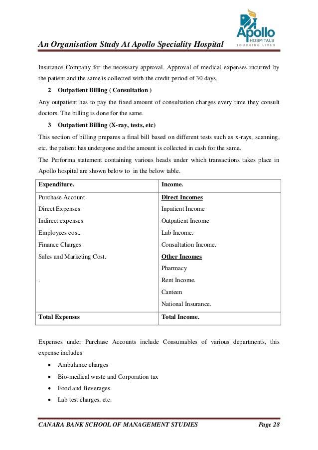 Hospital internship report