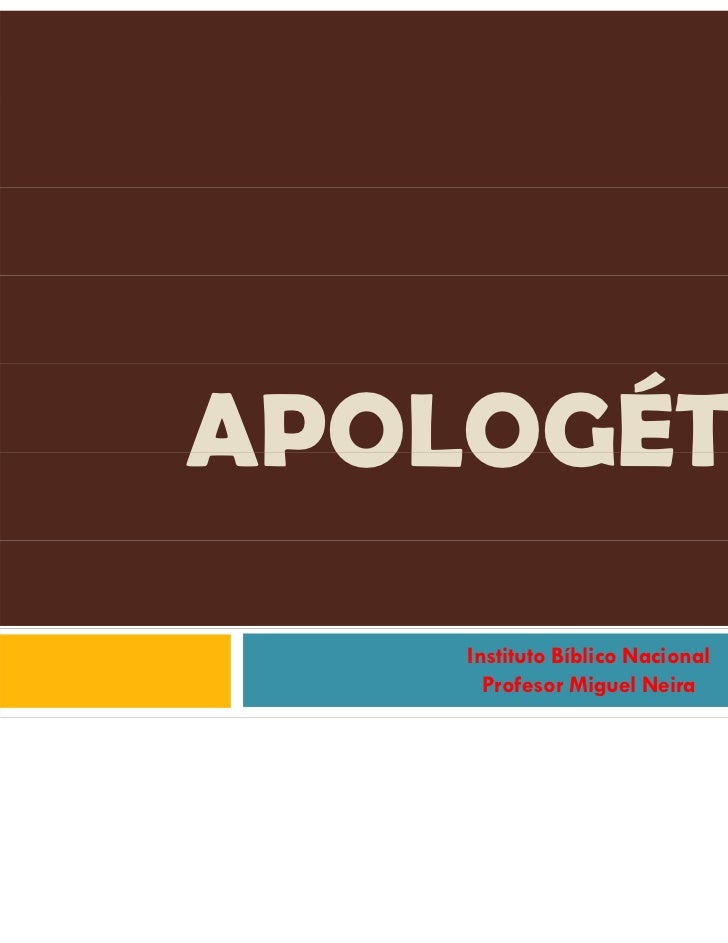 Apologética   apoyo de clase n°1