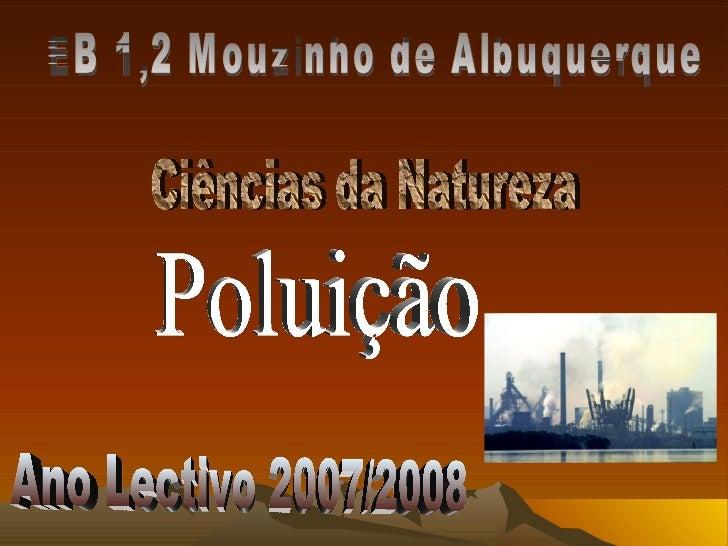 EB 1,2 Mouzinho de Albuquerque Ciências da Natureza Poluição Ano Lectivo 2007/2008