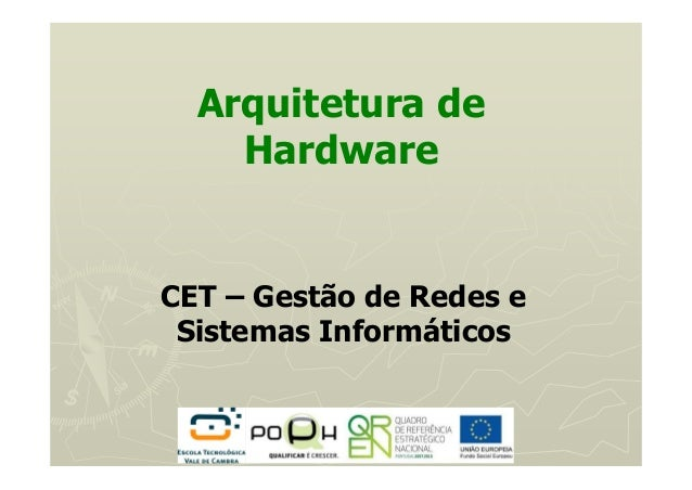 Arquitetura de Hardware CET – Gestão de Redes e Sistemas Informáticos