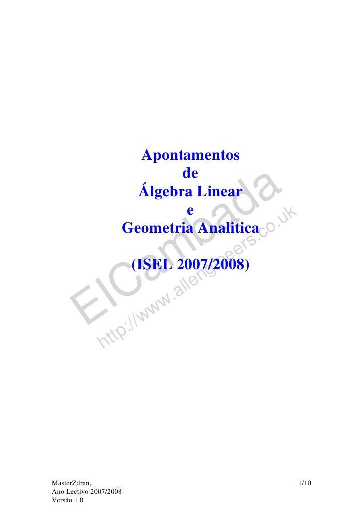 Apontamentos                             de                       Álgebra Linear                                          ...