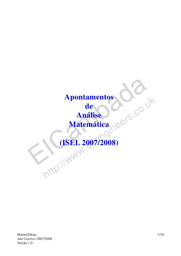 Apontamentos de matematica1