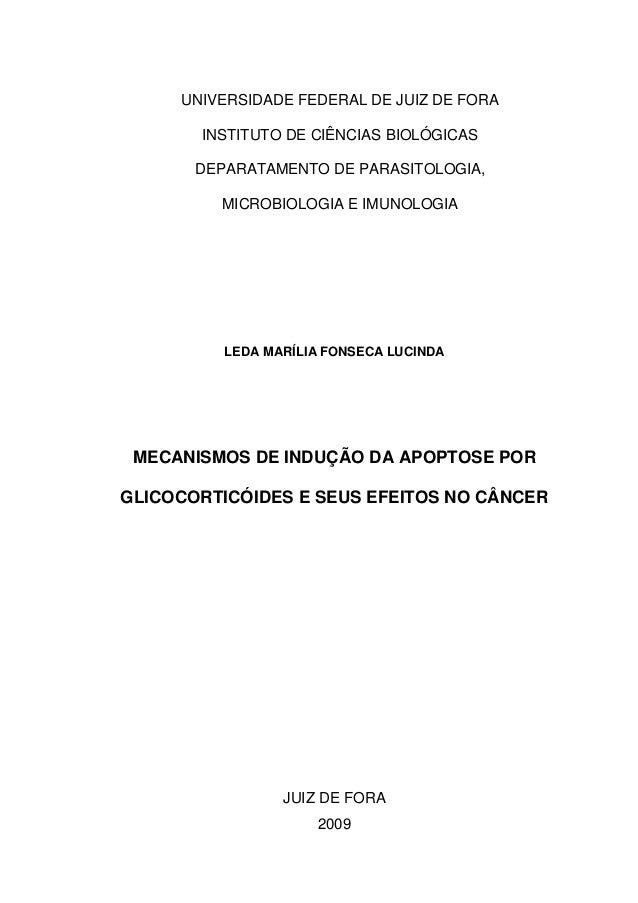 UNIVERSIDADE FEDERAL DE JUIZ DE FORA INSTITUTO DE CIÊNCIAS BIOLÓGICAS DEPARATAMENTO DE PARASITOLOGIA, MICROBIOLOGIA E IMUN...