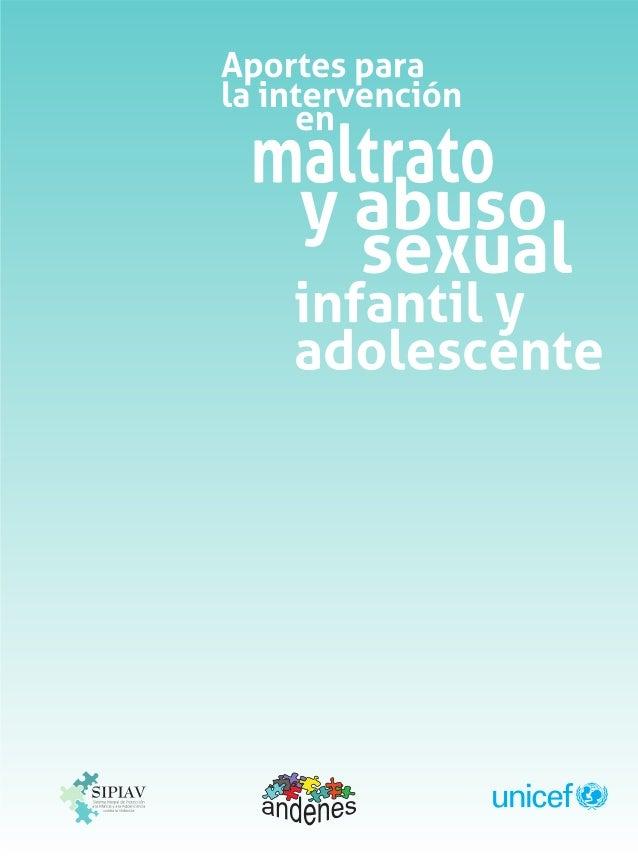 Aportes para la intervención en maltrato y abuso sexual infantil y adolescente