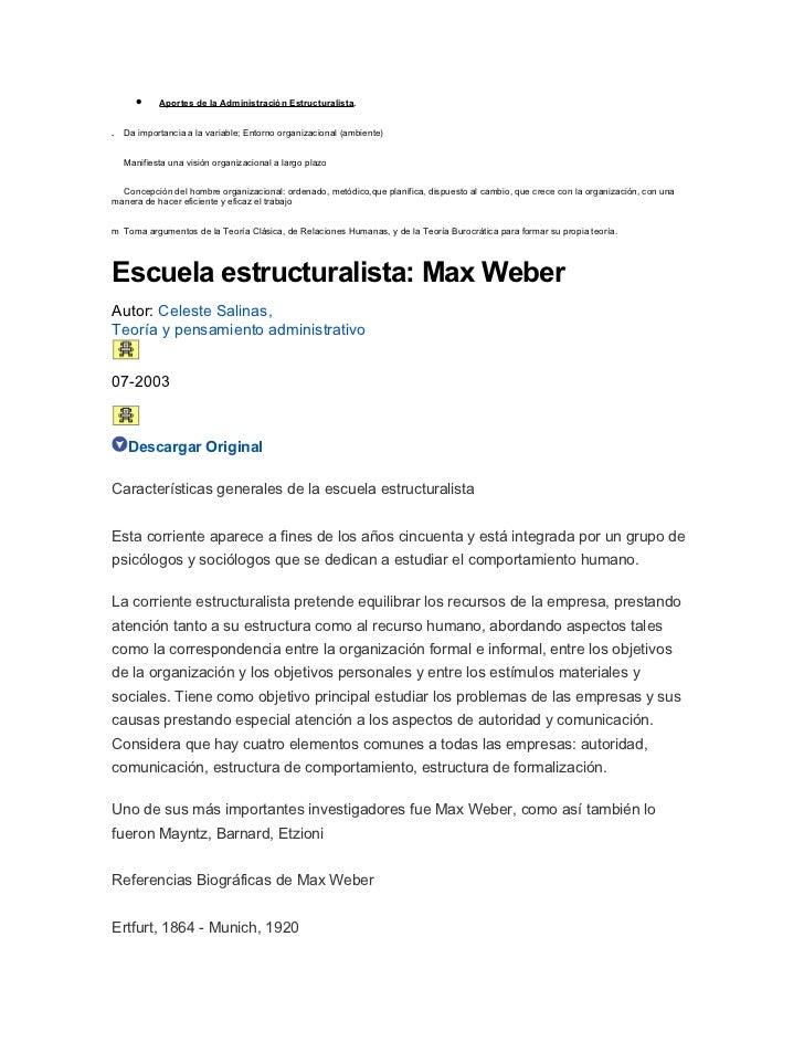 Aportes de la administración estructuralista