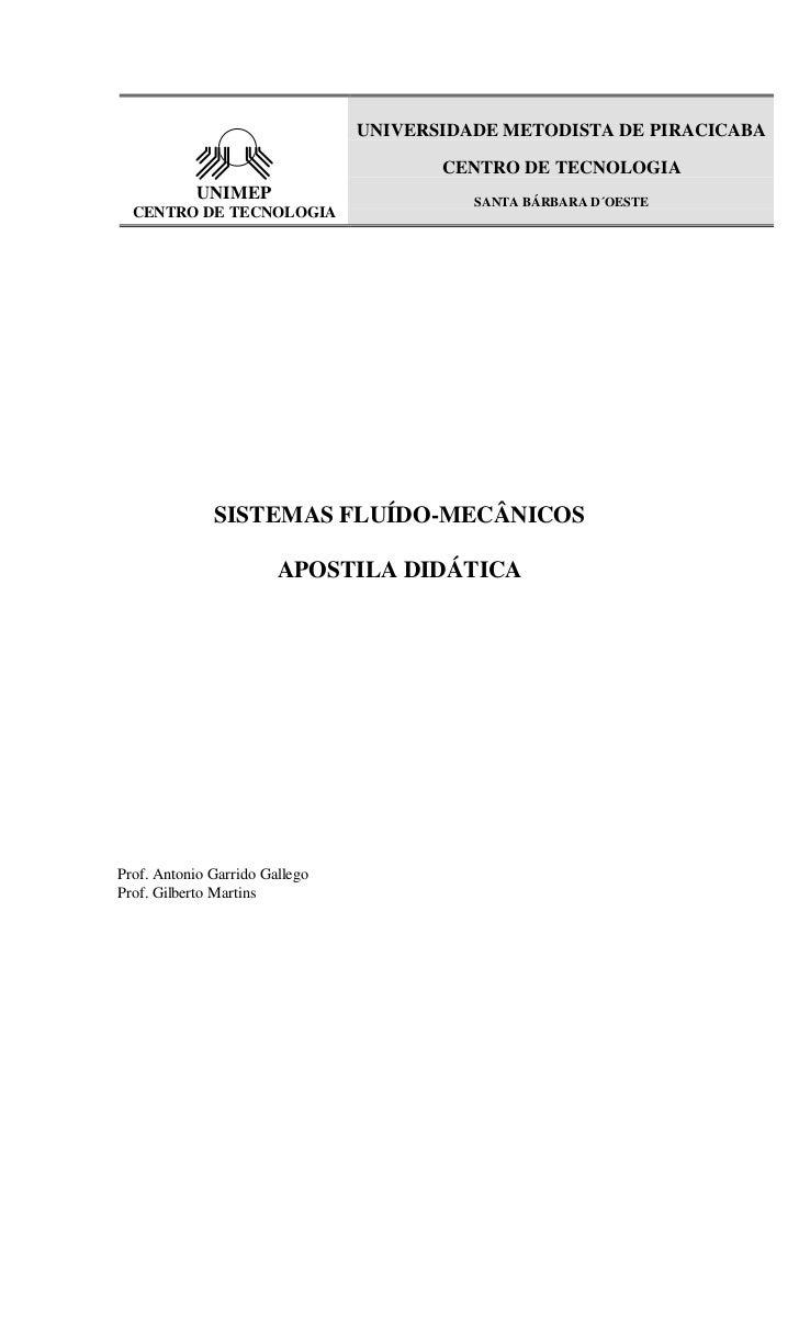 UNIVERSIDADE METODISTA DE PIRACICABA                                       CENTRO DE TECNOLOGIA            UNIMEP         ...