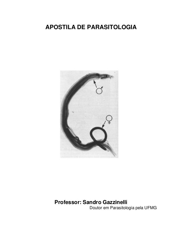 APOSTILA DE PARASITOLOGIA Professor: Sandro Gazzinelli Doutor em Parasitologia pela UFMG