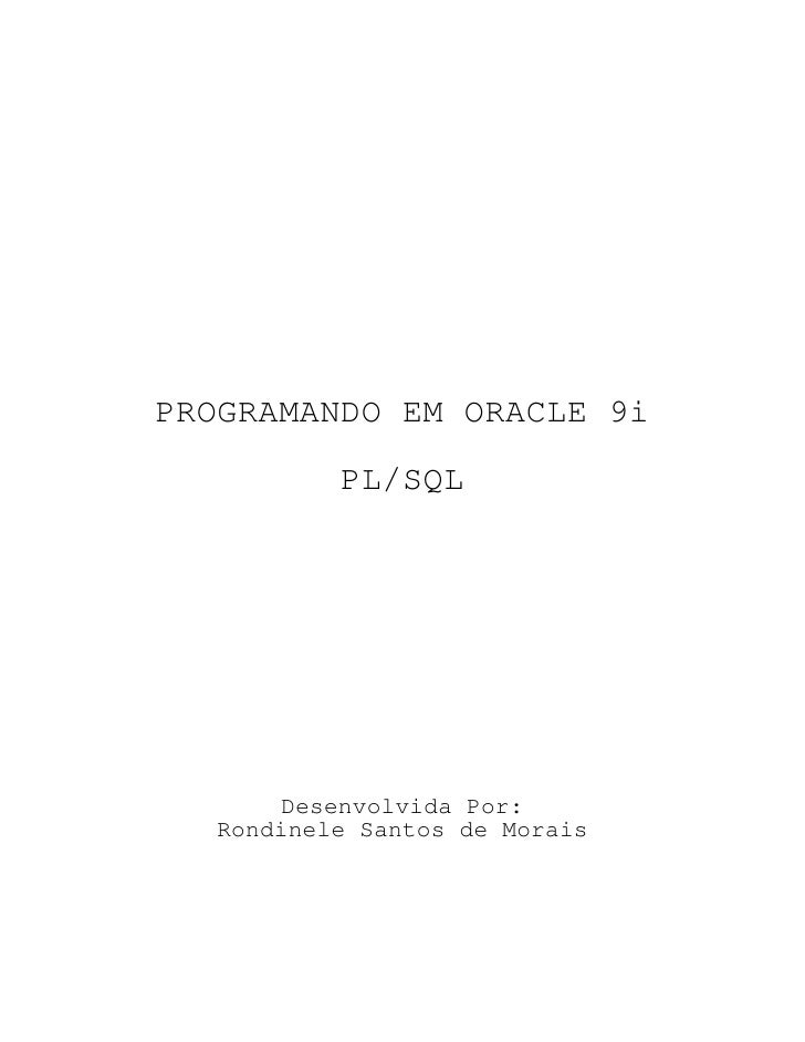 Apostila completa-oracle-programando-oracle
