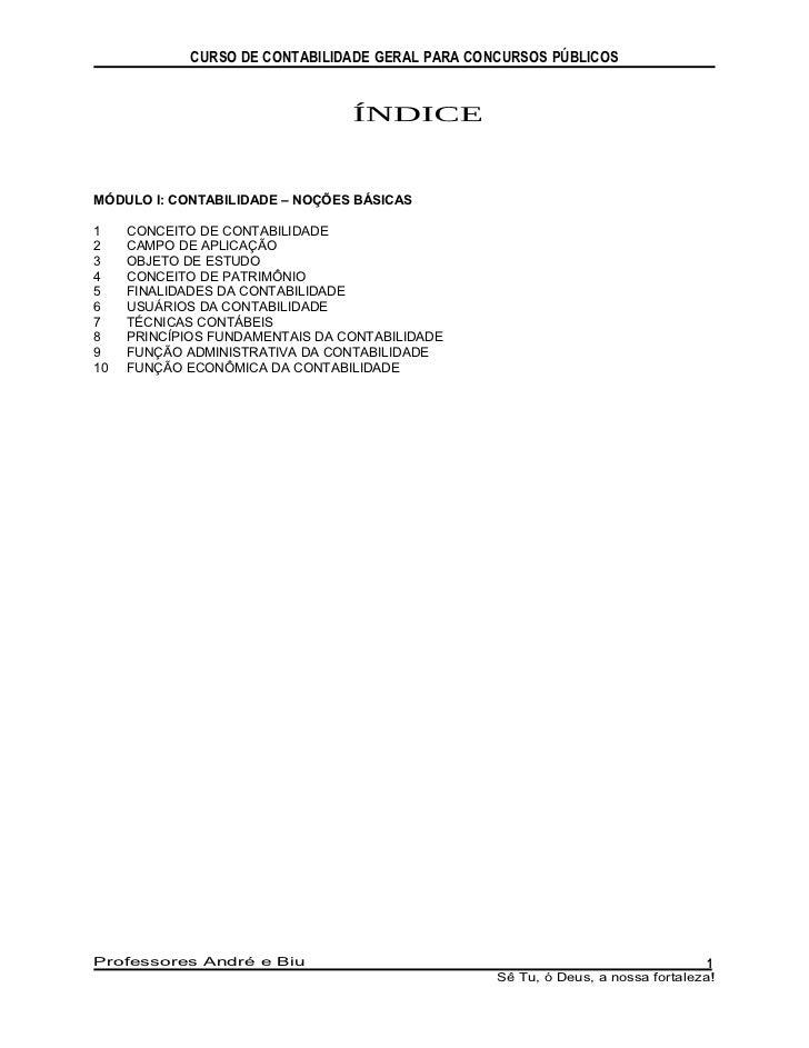 Apostila   contabilidade - contabiliadade para concursos
