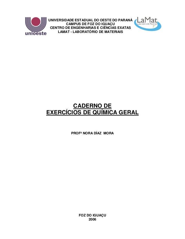 1UNIVERSIDADE ESTADUAL DO OESTE DO PARANÁ         CAMPUS DE FOZ DO IGUAÇU CENTRO DE ENGENHARIAS E CIÊNCIAS EXATAS     LAMA...