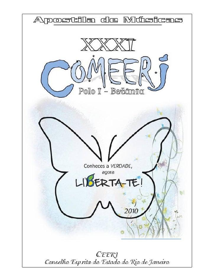 - COMEERJ 2010 -                                                                  R E LAÇÃO DE MÚSIC AS      COMEERJ – 201...