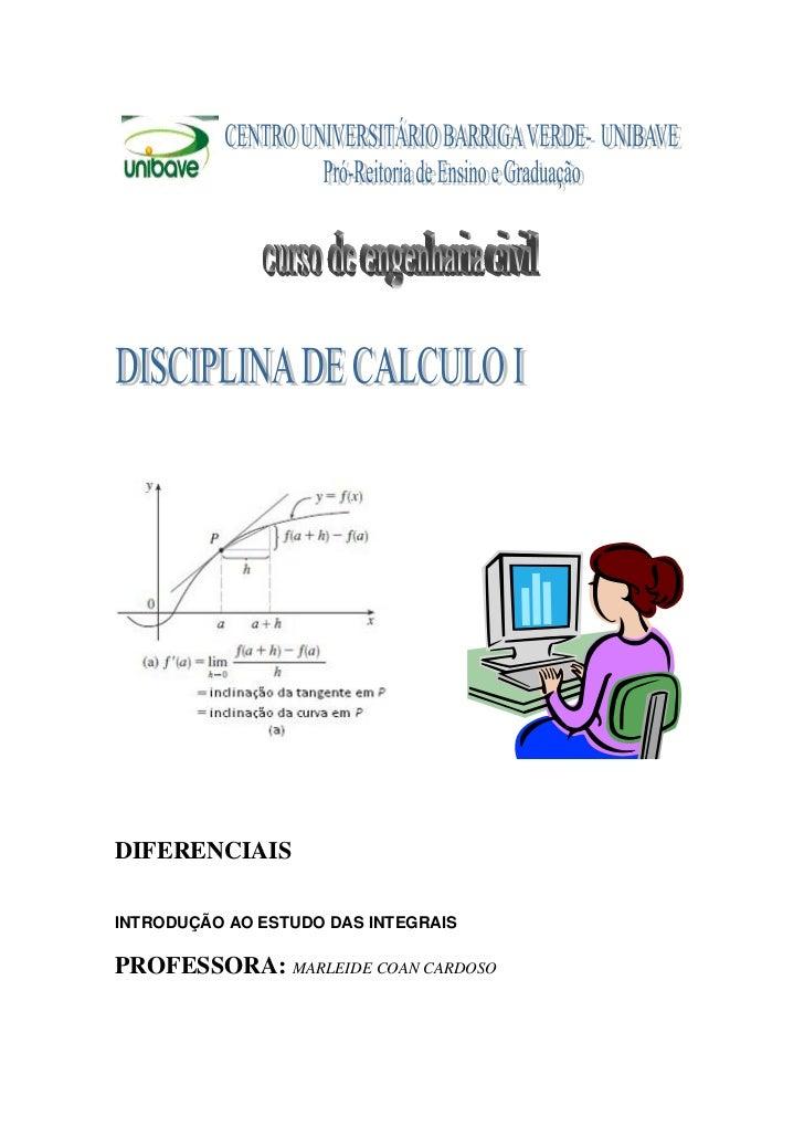 Apostila 3 calculo i integrais