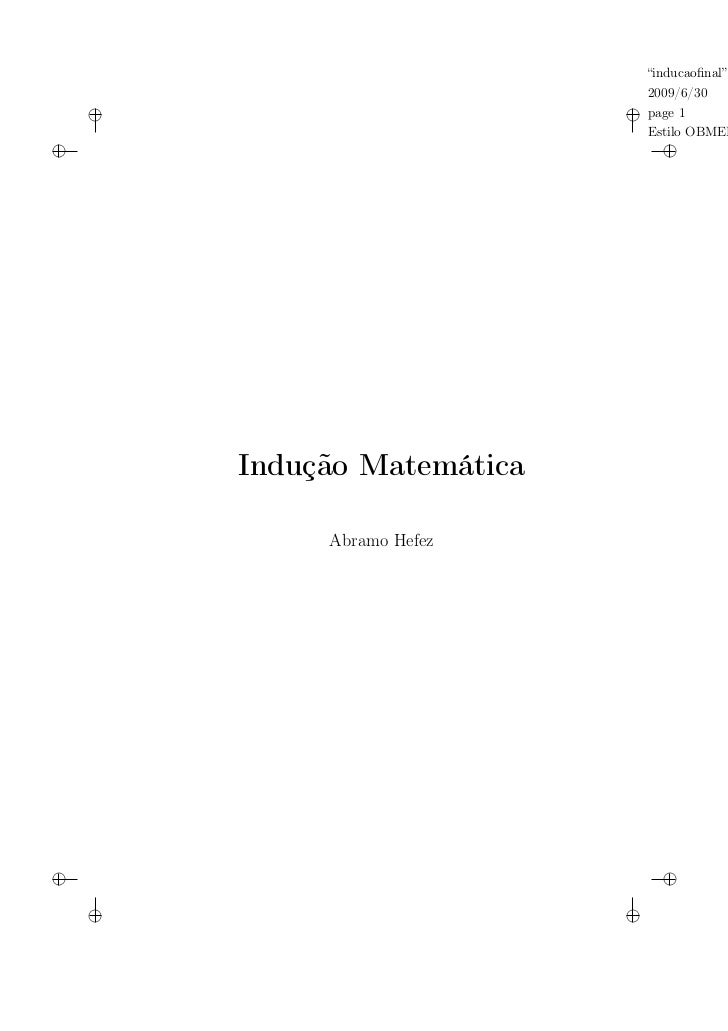 """inducaofinal""                               2009/6/30    i                        i page 1                               E..."