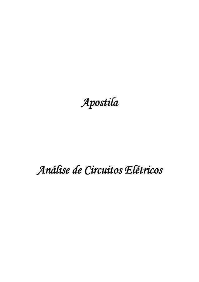 Apostila de análise de circuitos elétricos