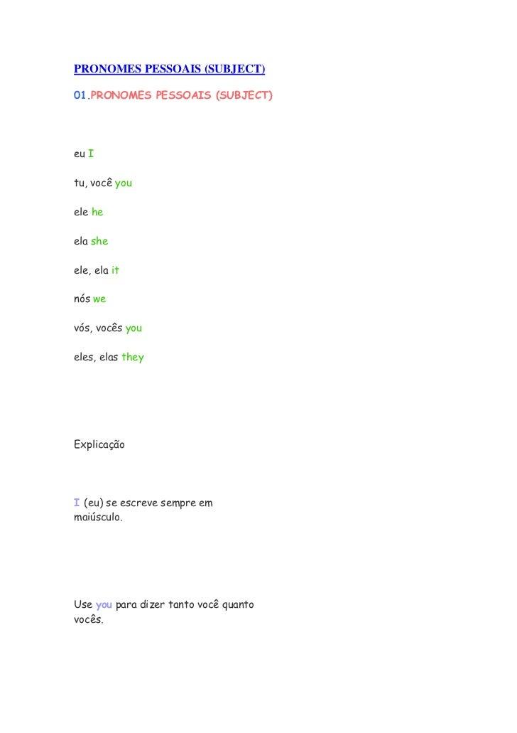 Apostila básica de inglês completa