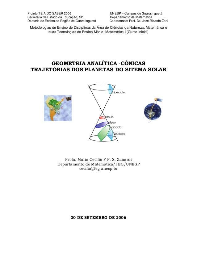 Projeto TEIA DO SABER 2006 UNESP – Campus de Guaratinguetá Secretaria de Estado da Educação, SP. Departamento de Matemátic...