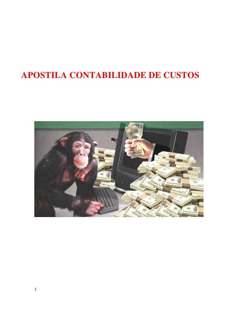 Apostila contabilidade de custos i