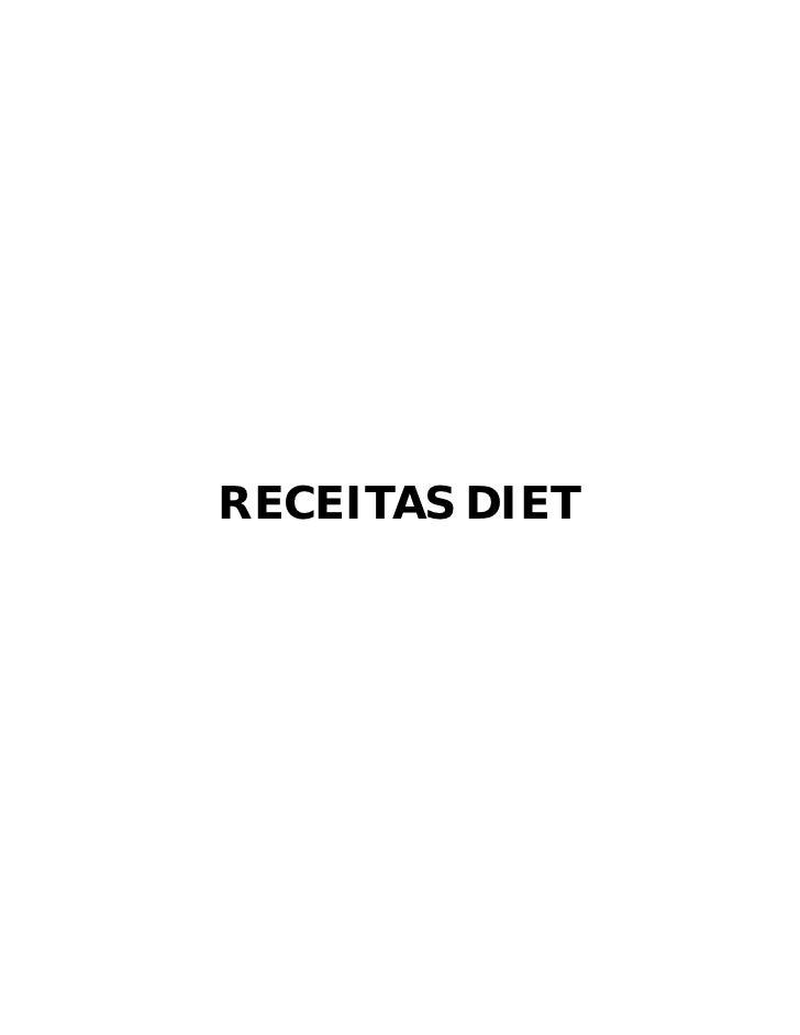 RECEITAS DIET
