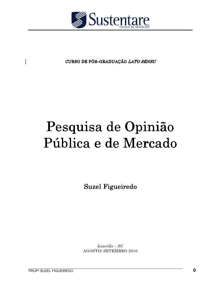 Pesquisa de opinião pública e de mercado
