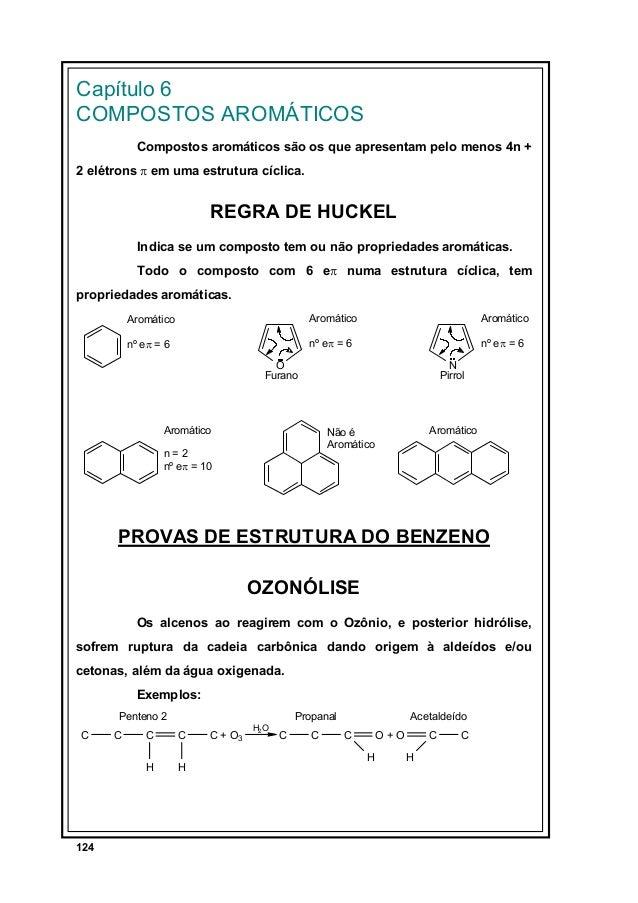 Capítulo 6 COMPOSTOS AROMÁTICOS Compostos aromáticos são os que apresentam pelo menos 4n + 2 elétrons π em uma estrutura c...