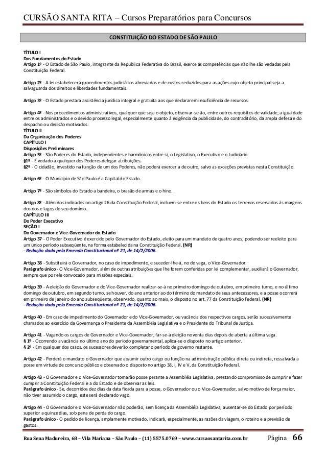 CURSÃO SANTA RITA – Cursos Preparatórios para Concursos Rua Sena Madureira, 68 – Vila Mariana – São Paulo – (11) 5575.0769...