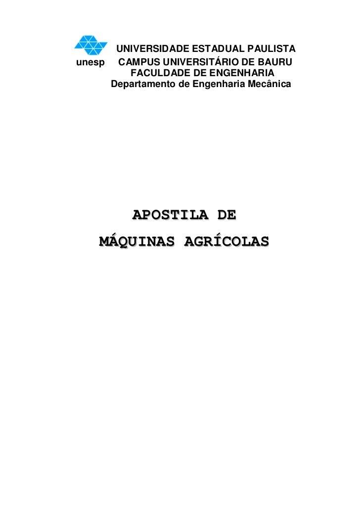 Apostila de máquinas agrícolas