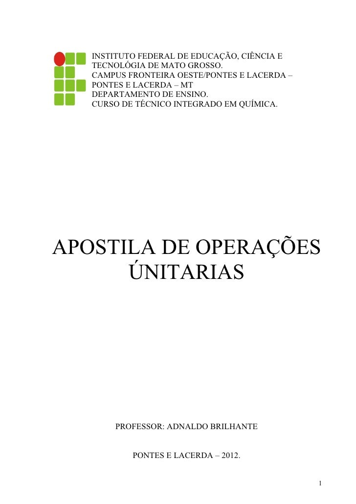 INSTITUTO FEDERAL DE EDUCAÇÃO, CIÊNCIA E   TECNOLÓGIA DE MATO GROSSO.   CAMPUS FRONTEIRA OESTE/PONTES E LACERDA –   PONTES...