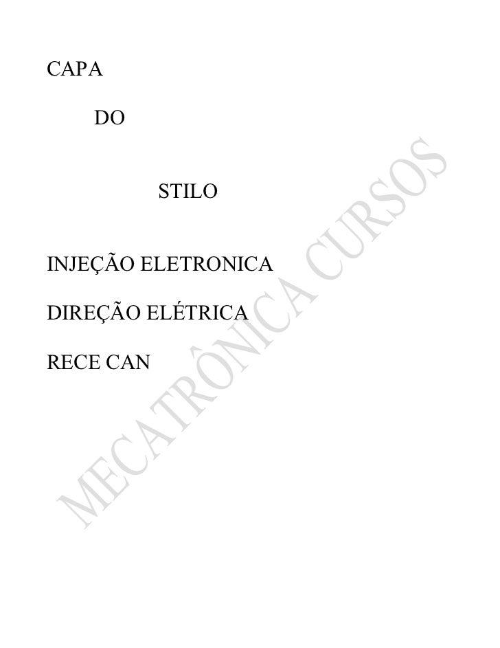 CAPA   DO           STILOINJEÇÃO ELETRONICADIREÇÃO ELÉTRICARECE CAN